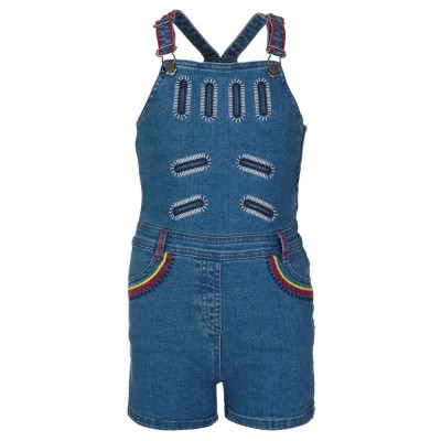 Stella McCartney Kids Stonewash Denim Graphic Dungarees