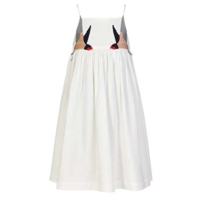 Stella McCartney Kids White Bird Dress