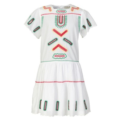 Stella McCartney Kids White Embroidered Dress