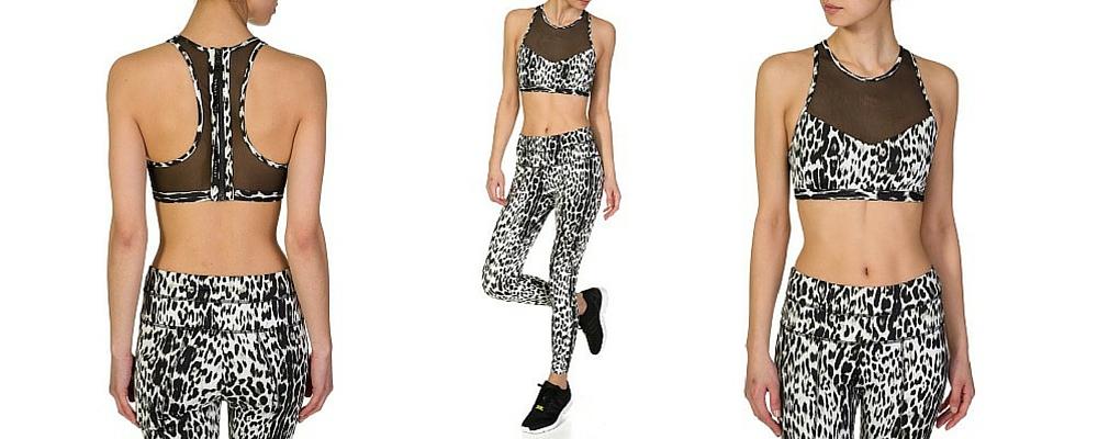 Varley leopard print gymwear