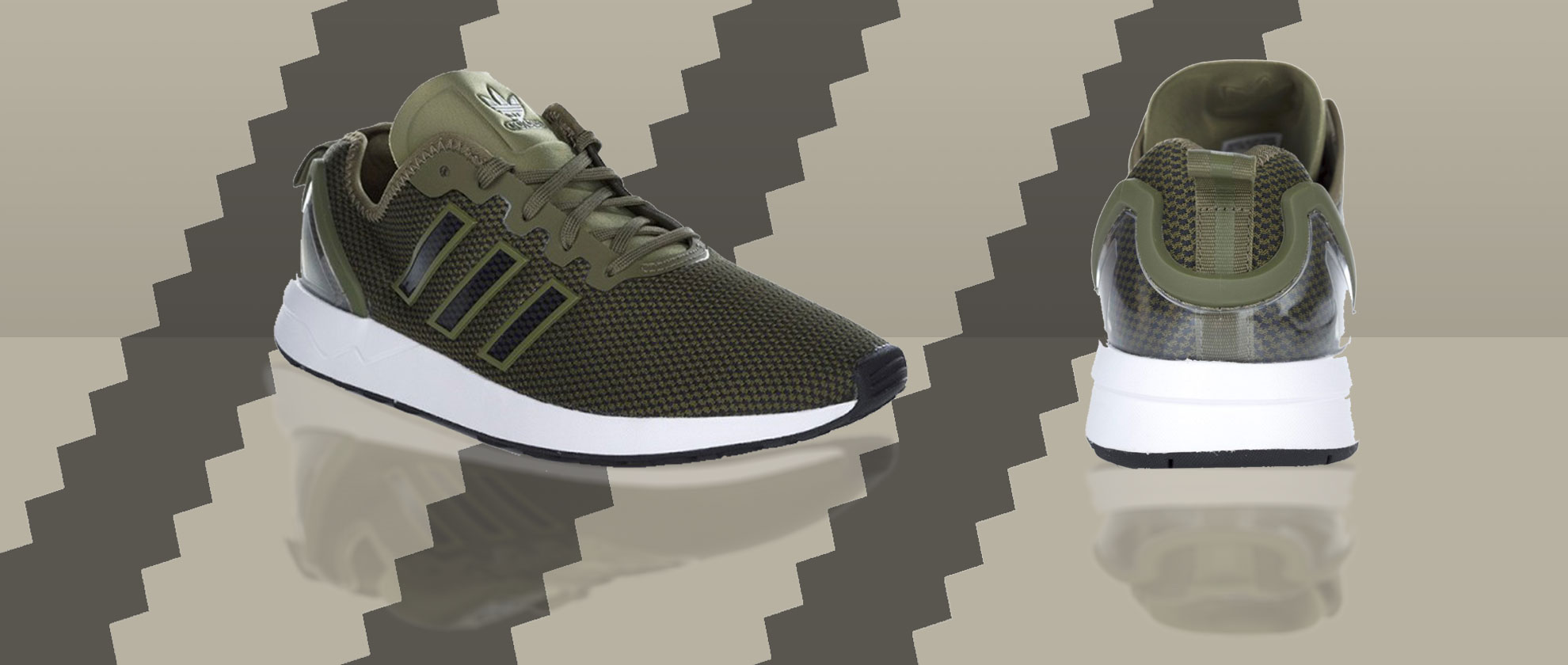 Staff Pick: Adidas Olive Green ZX Flux ADV Trainers
