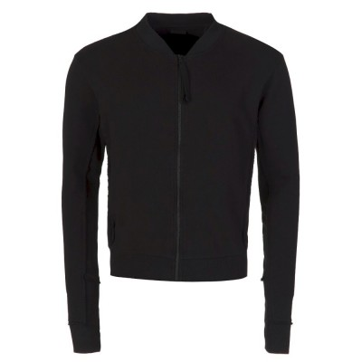 Thom Krom Black Zip Bomber Jacket