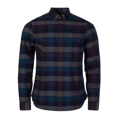 Fred Perry Navy Textured Gingham Shirt