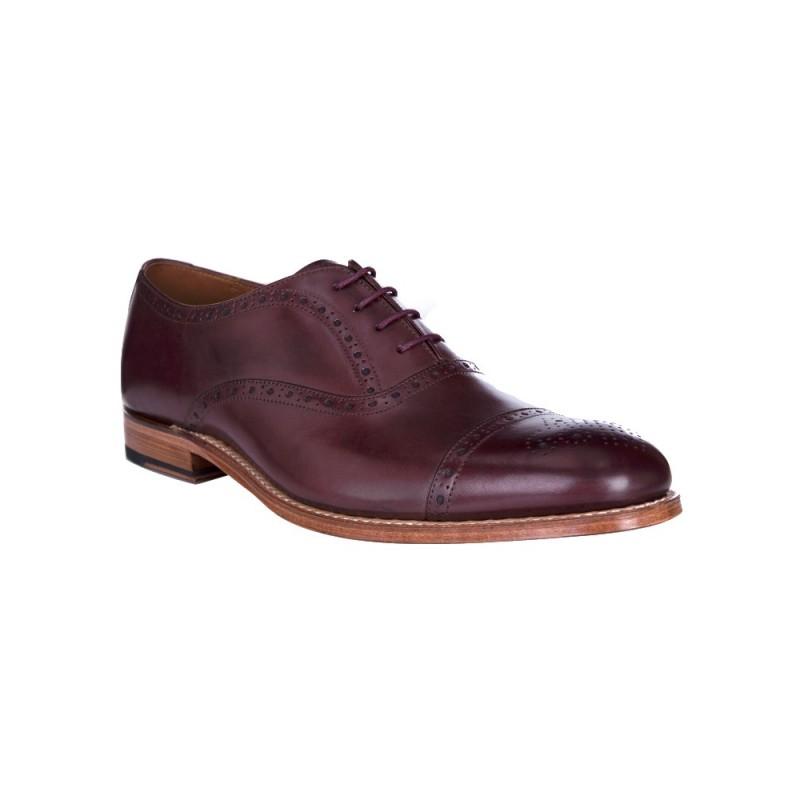 Grenson Burgundy Matthew Leather Brogue Shoes