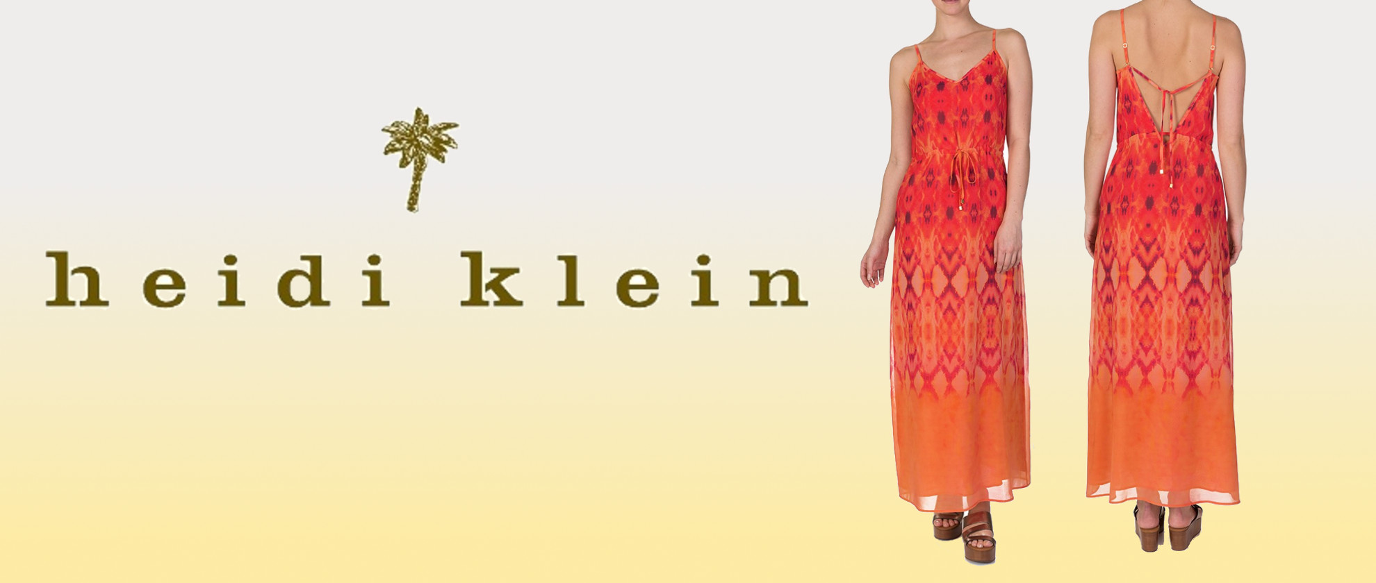 Staff Pick: Heidi Klein Orange Patterned Maxi Dress