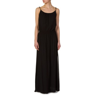 Heidi Klein Black Drop Waist Maxi Dress