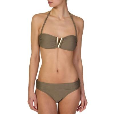 Heidi Klein Khaki Bandeau Bikini Top