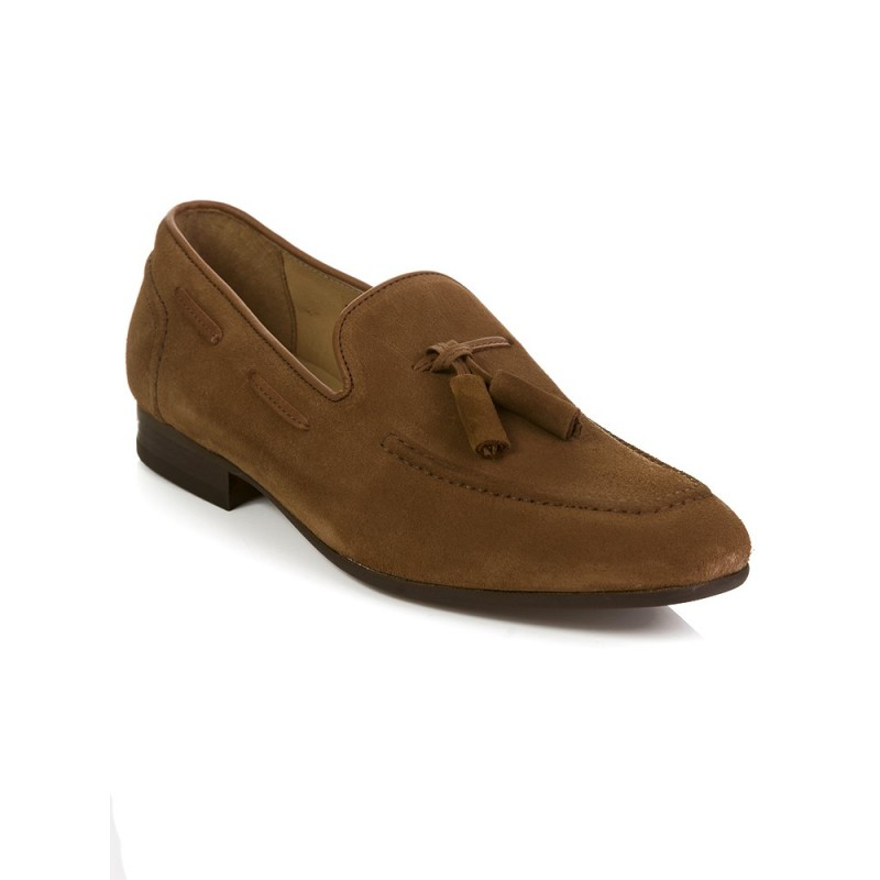 Hudson Tan Suede Pierre Loafers