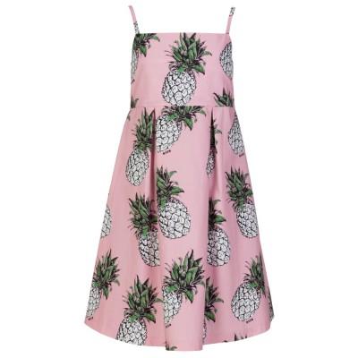 MSGM Junior Pink Pineapple Flowing Dress