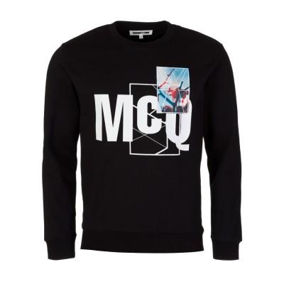 McQ by Alexander McQueen Black Floral Sweatshirt