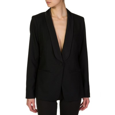 Michael Kors Black Collared Tuxedo Jacket