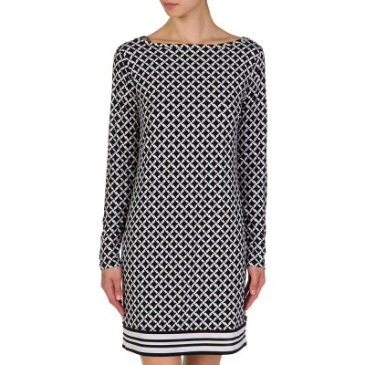 Michael Kors Black Dogtooth Dress
