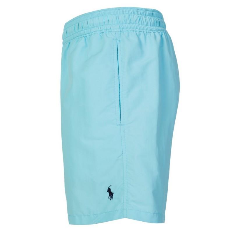 Polo Ralph Lauren Logo Swim Shorts in Sky Blue