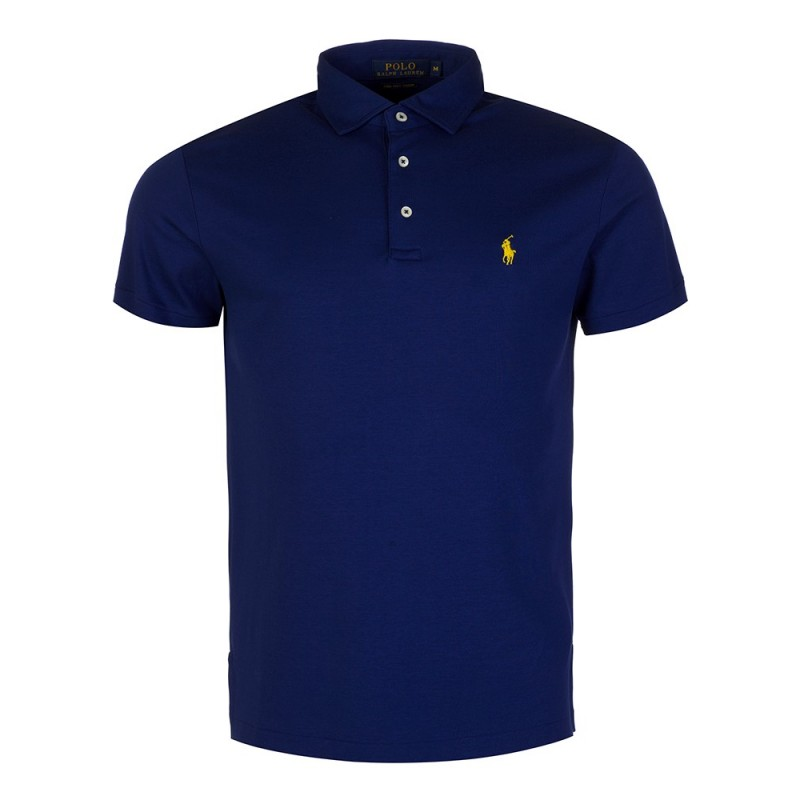 Polo Ralph Lauren Slim Stretch Mesh Polo Shirt in Navy