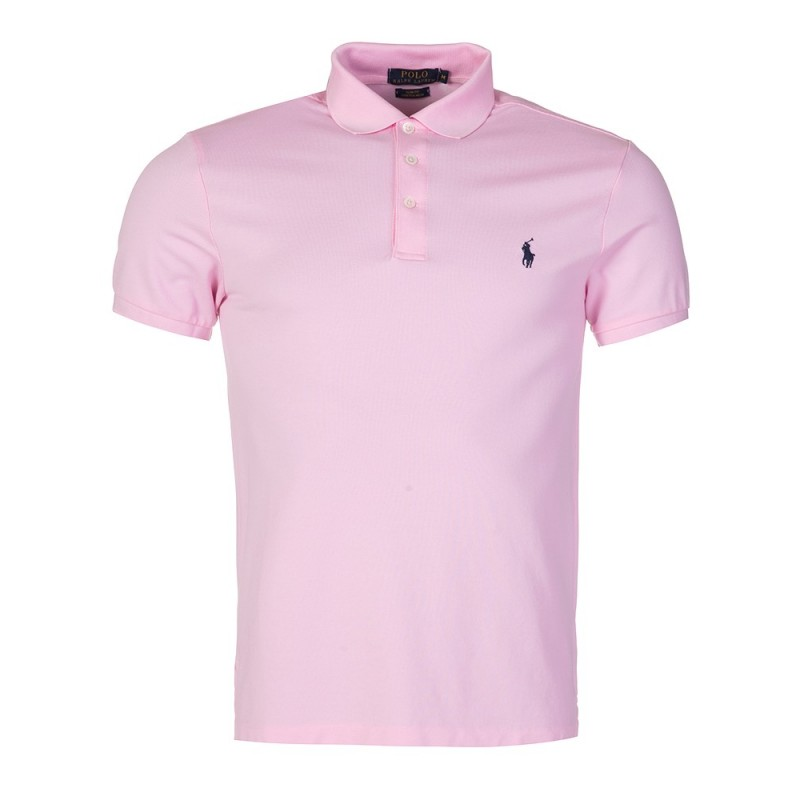Polo Ralph Lauren Slim Stretch Mesh Polo Shirt in Pink