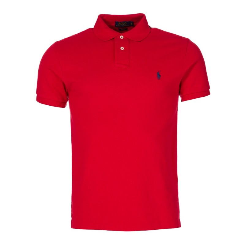 Polo Ralph Lauren Slim Stretch Mesh Polo Shirt in Red