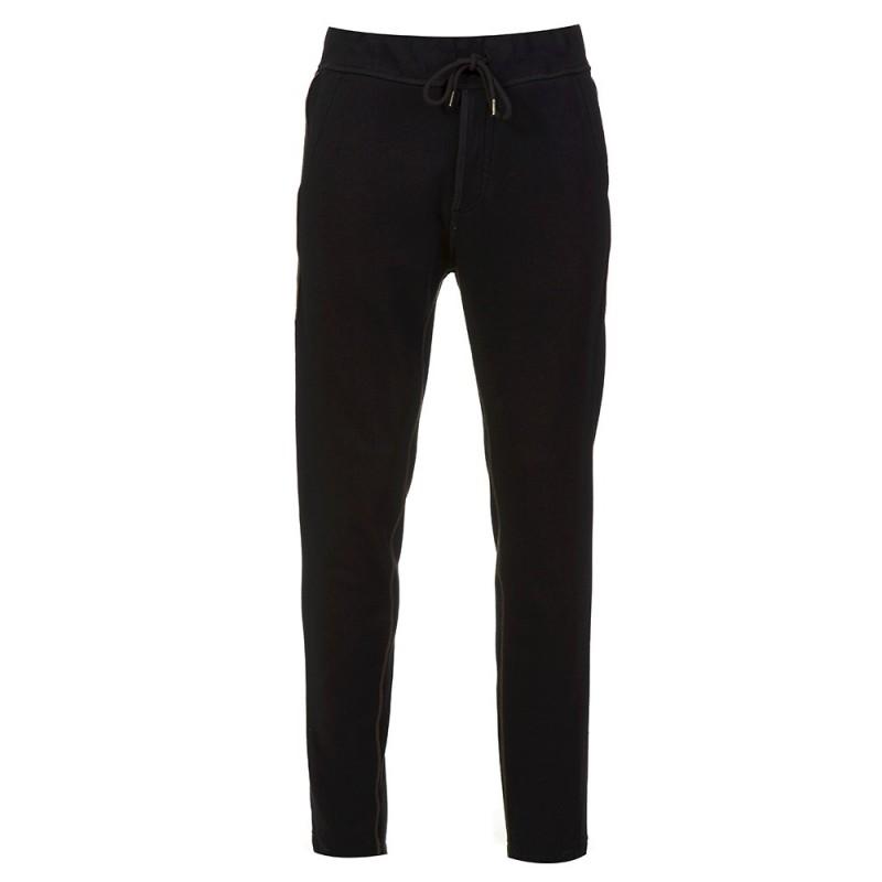True Religion Zip Detail Sweatpants in Black