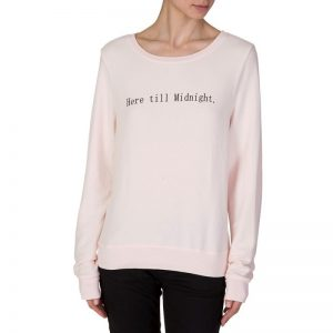 Wildfox Here Til Midnight Sweatshirt in Pink