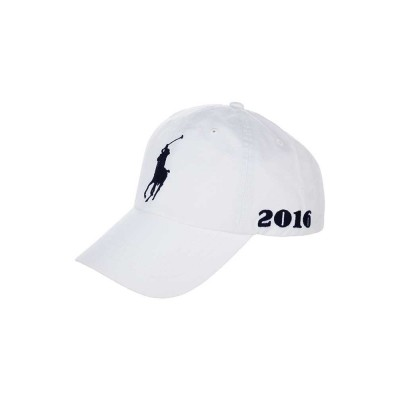 Polo Ralph Lauren White Wimbledon Logo Cap