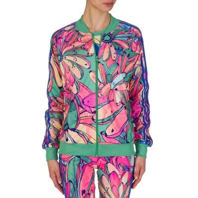 Adidas Pink Banana Print Tracksuit Jacket