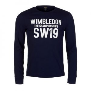 wimbledon navy logo long sleeved t-shirt