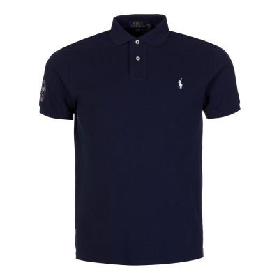 Polo Ralph Lauren Navy Wimbledon Logo Polo Shirt