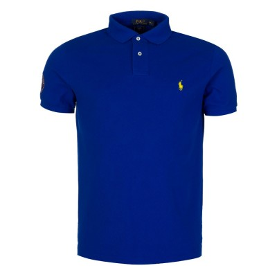Polo Ralph Lauren Royal Blue Wimbledon Logo Polo Shirt