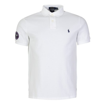 Polo Ralph Lauren White Wimbledon Logo Polo Shirt