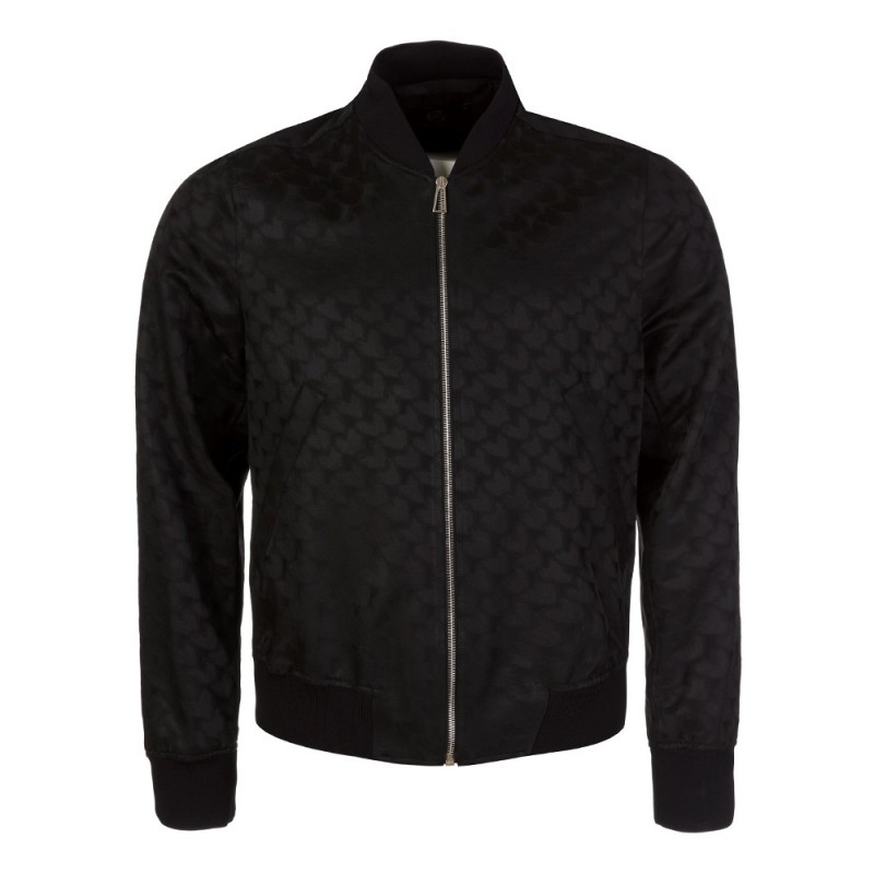 PS by Paul Smith Black Heart Print Bomber