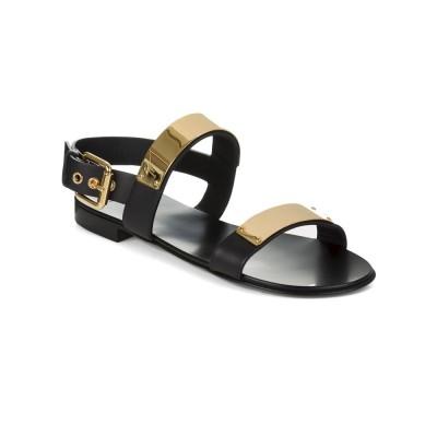 Giuseppe Zanotti Gold Plate Sandals in Black