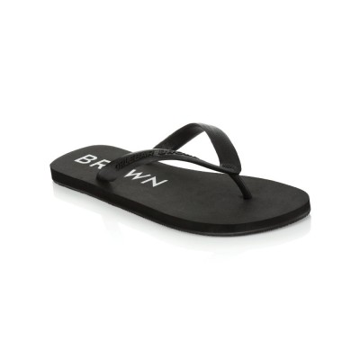 Orlebar Brown Black Watson Flip-Flops
