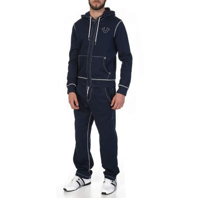 True Religion Navy Big T Hoodie
