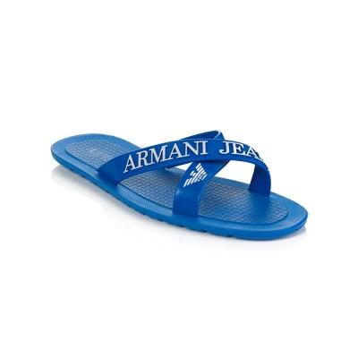 Armani Jeans Royal Blue Pool Sandals