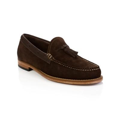 G.H. Bass & Co. Dark Brown Suede Larkin Loafers