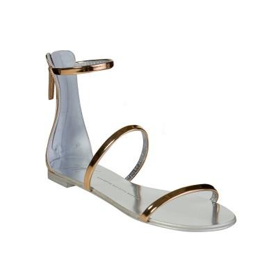 Giuseppe Zanotti Rose Gold Leather Sandal