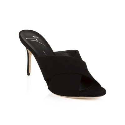 Giuseppe Zanotti Black Kitten Heel Shoes