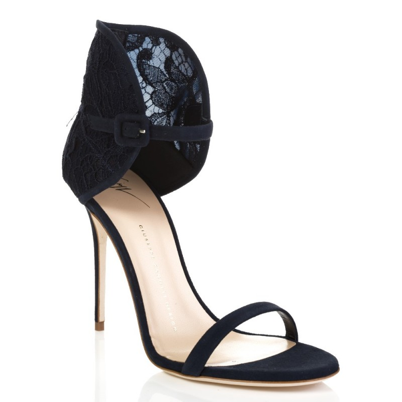 Giuseppe Zanotti Navy Mistico Camoscio Shoes