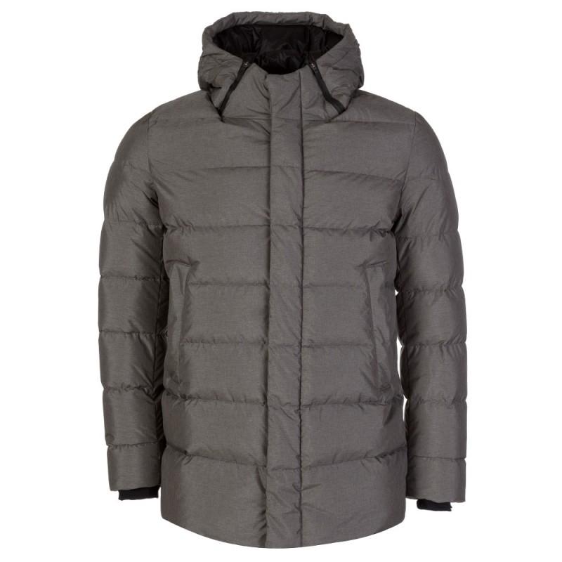 Herno Laminar Grey Hooded Puffer Jacket
