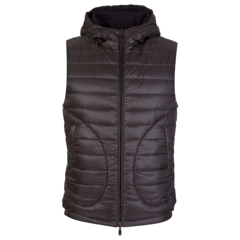 Herno Navy Hooded Reversible Gilet