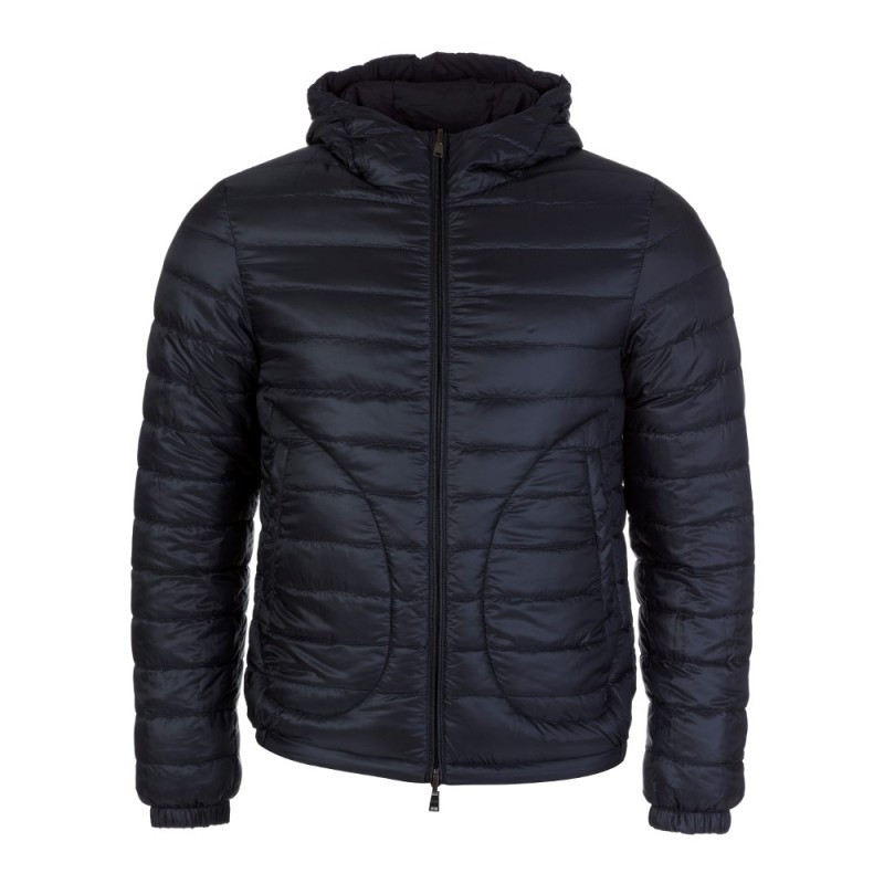 Herno Navy Reversible Puffa Jacket