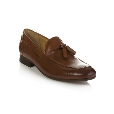 Hudson Tan Pierre Leather Loafers