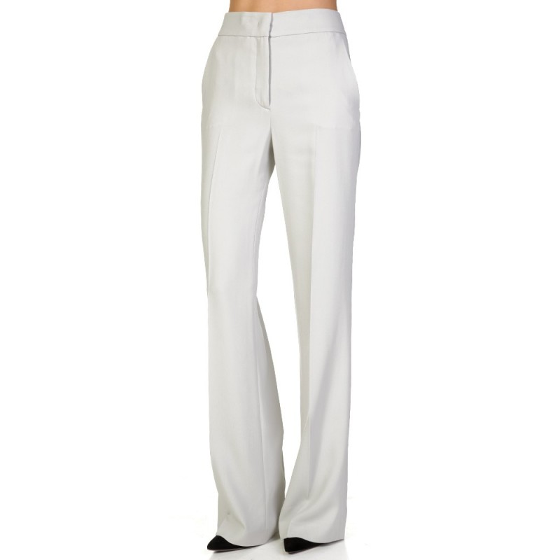 Joseph Grey Fluid Crepe New Jagger Trousers