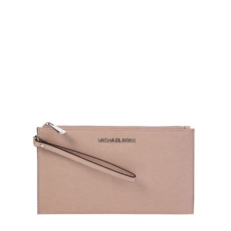 Michael Kors Pink Zip Clutch Bag
