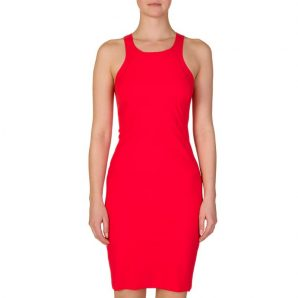 PATRIZIA PEPE RED FITTED DRESS