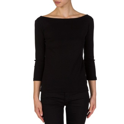 Polo Ralph Lauren Black Ribbed Knitted Top