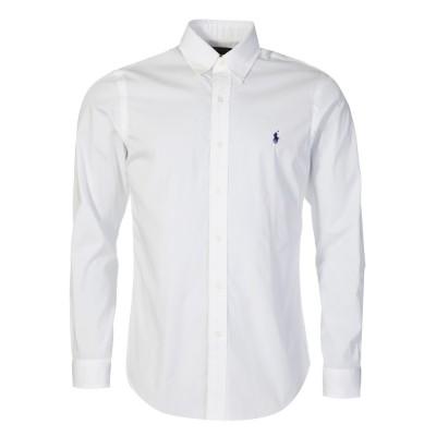 Polo Ralph Lauren White Slim Poplin Shirt
