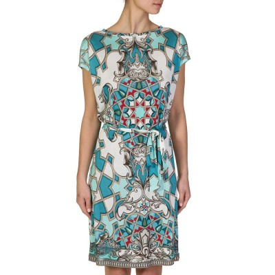 VERSACE COLLECTION BLUE LOOSE PRINTED DRESS