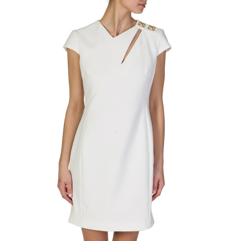 VERSACE COLLECTION WHITE SLIT DRESS
