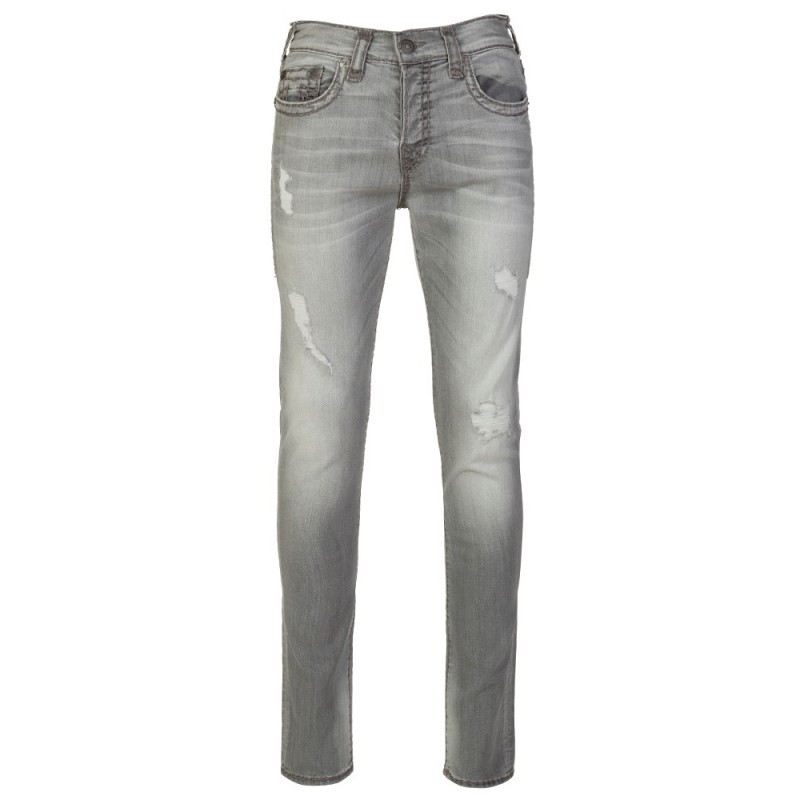 True Religion Worn Slate Distressed Rocco Jeans