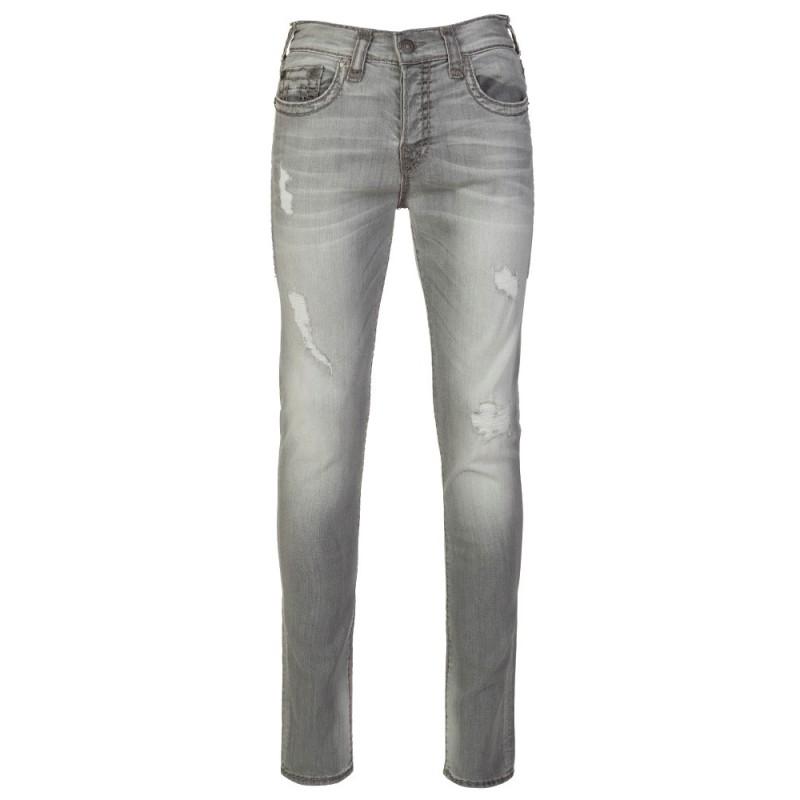 True Religion Worn Slate Distressed Rocco Jeans